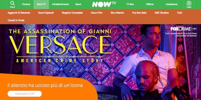 Pagina dedicata a L'Assassinio di Gianni Versace in streaming su NOW TV