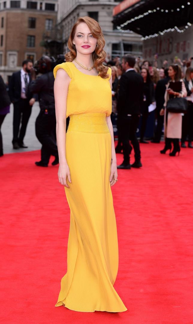 L'abito indossato da Emma Stone alla prima londinese di The Amazing Spider-man