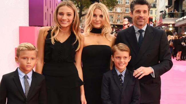 Patrick Dempsey e la famiglia alla prima di Bridget Jones's Baby