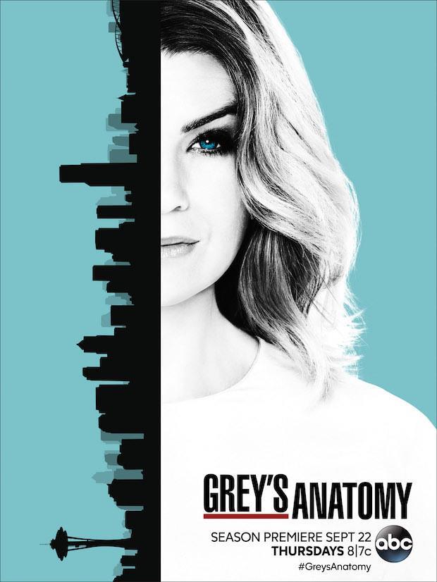 Meredith e Seattle protagonisti del poster di Grey's Anatomy 13