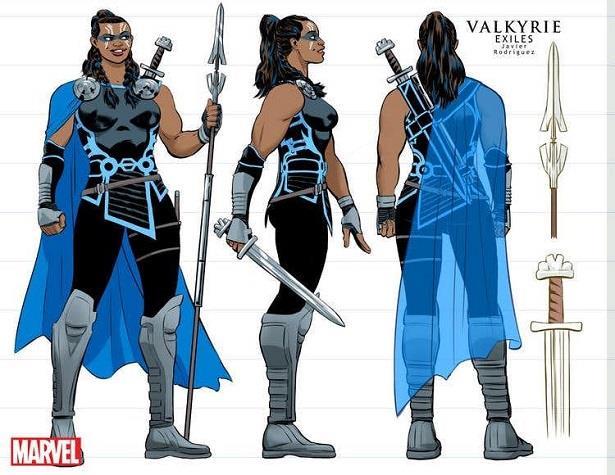 Il look della Valchiria di Thor: Ragnarok nella nuova run degli Exiles