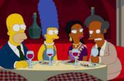 I Simpson a cena con Apu e Manjula