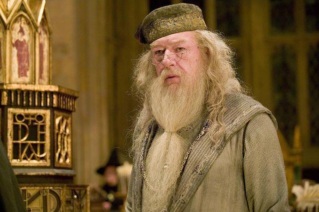 Un'immagine di Silente dalla saga cinematografica di Harry Potter