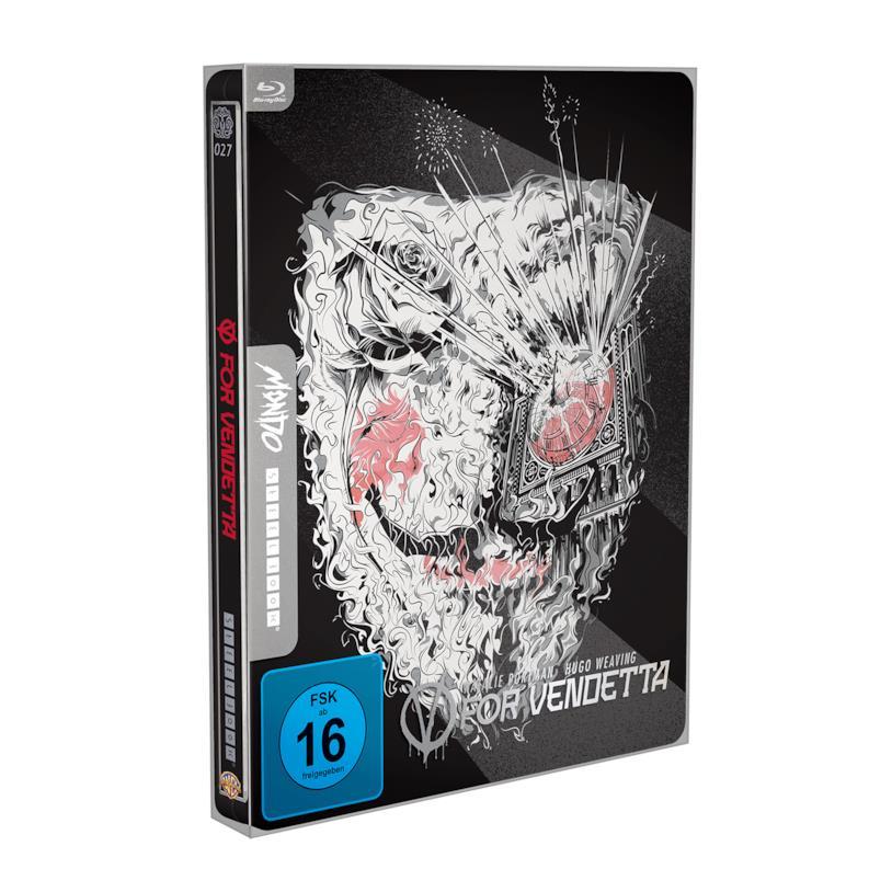 Packshot di V for Vendetta edizione Mondo x SteelBook