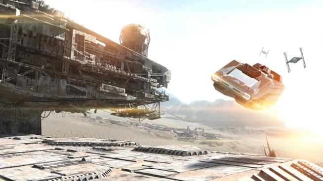 Star Wars Land, concepto dello spazioporto