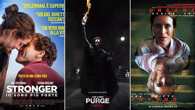 I postere di Stronger - Io sono più forte, La prima notte del giudizio, Unsane