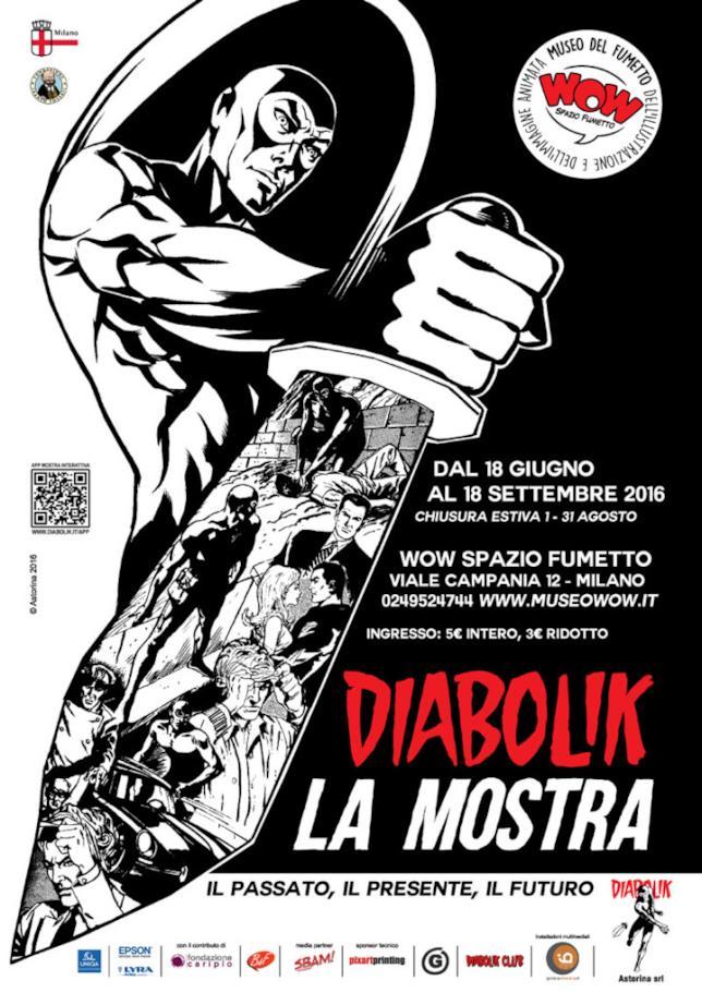 La mostra su Diabolik a WOW Spazio Fumetto di Milano
