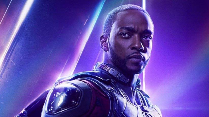 Il personaggio di Sam Wilson in una immagine promozionale per il film Avengers: Endgame