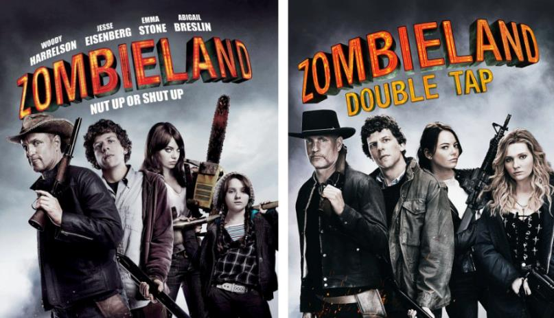 Zombieland: i poster del film e del sequel