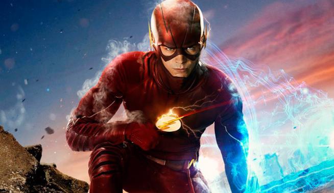 Grant Gustin nei panni di Flash