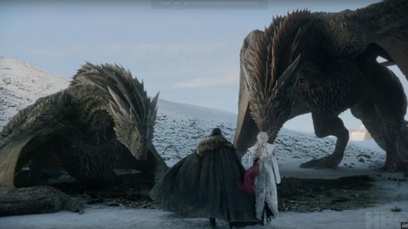GoT 8: Jon e Daenerys con i draghi