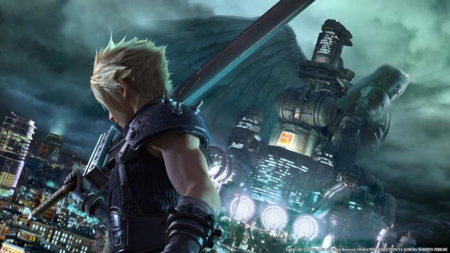 Cloud e Sephiroth in un concept art di FF7 Remake