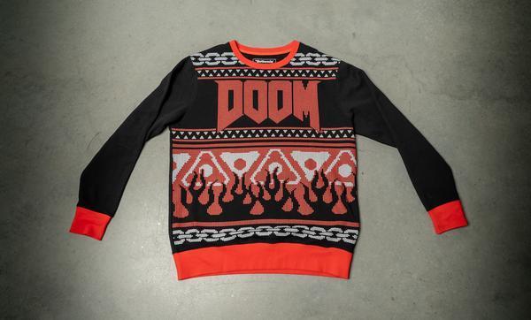 Un'immagine del maglione di Doom