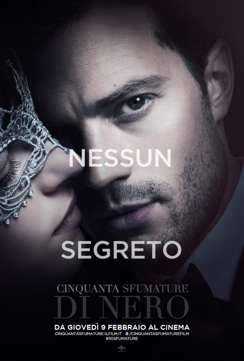 Character poster di Christian Grey per Cinquanta Sfumature di Nero