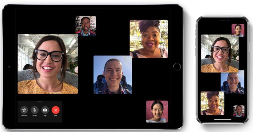 Immagine stampa per le chiamate di gruppo FaceTime