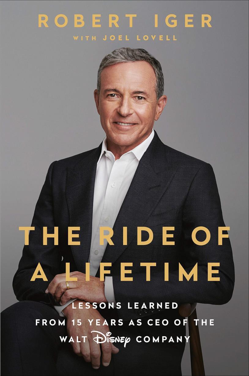 Bob Iger sulla copertina del libro The ride of a lifetime