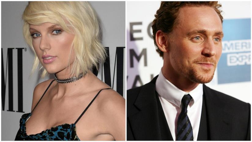 Primo piano di Taylor Swift e Tom Hiddleston
