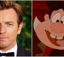 Ewan McGregor in un collage con LeFou