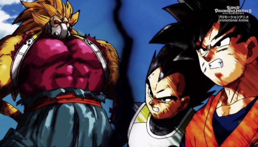 Dragon Ball Heroes Goku e Vegeta vs Kanba