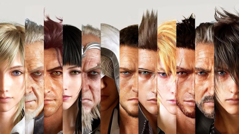 Tutti i personaggi di Final Fantasy XV in un artwork ufficiale