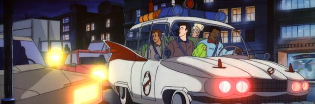 La Ecto-1 nella serie animata dei Ghostbusters