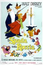 Semola e Merlino nel poster italiano di La Spada nella Roccia