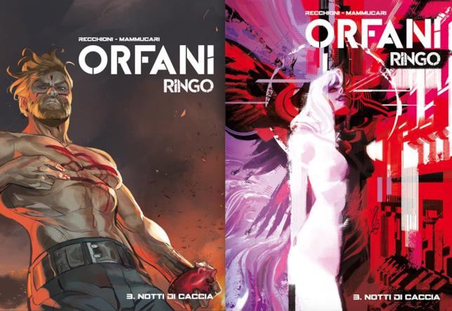 """La cover """"regular"""" e quella """"variant"""" del terzo volume di Orfani: Ringo"""