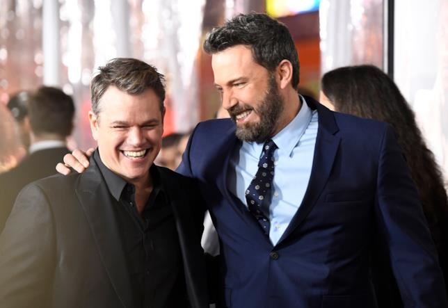 Ben Affleck insieme all'amico Matt Damon