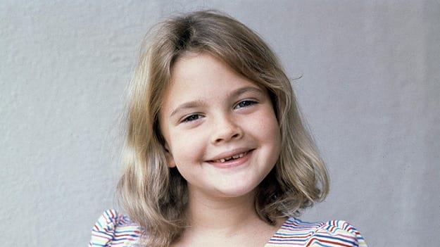 Drew Barrymore in un servizio fotografico da bambina