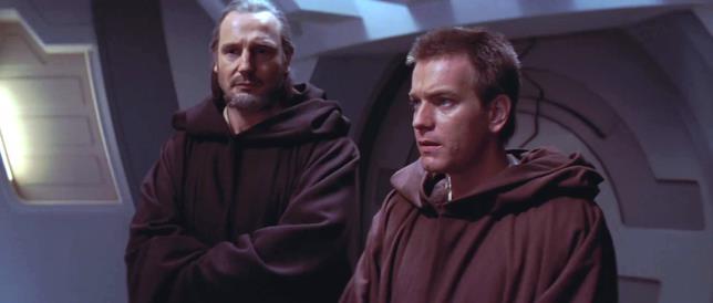 Qui-Gon Jinn e Obi-Wan Kenobi ne La Minaccia Fantasma