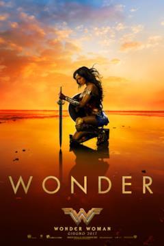 Diana sulla spiaggia nella sua armtura nel teaser poster di Wonder Woman