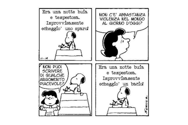 Una striscia di Snoopy