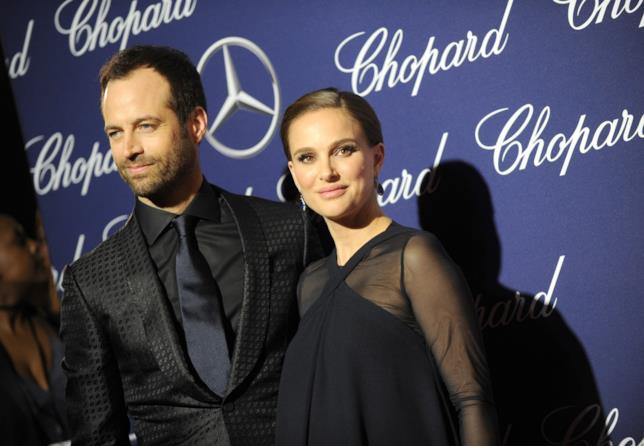 Natalie Portman con il marito Benjamin Millepied