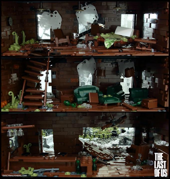 """Il mondo post-apocalittico di The Last of Us """"a mattoncini"""""""