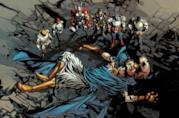 Una delle tavole di Original Sin illustrate da Mike Deodato Jr.