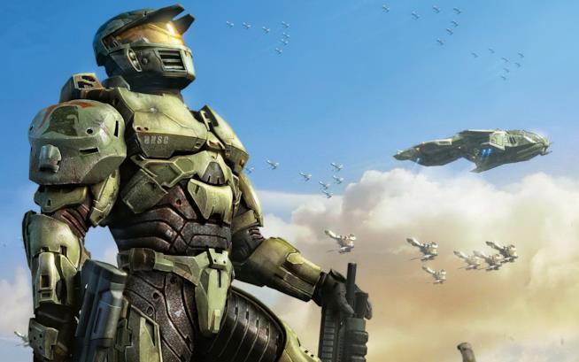 Master Chief posa fiero in un artwork di Halo Wars
