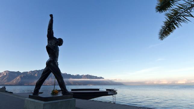Statua di Freddie Mercury a Montreaux