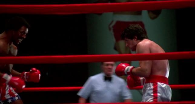 Apollo Creed sul ring insieme a Rocky Balboa, nel primo film della saga