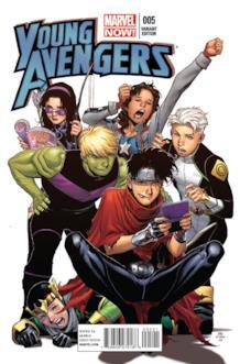 Variant Cover per Young Avengers Volume 2 #5 disegnata da Jim Cheung