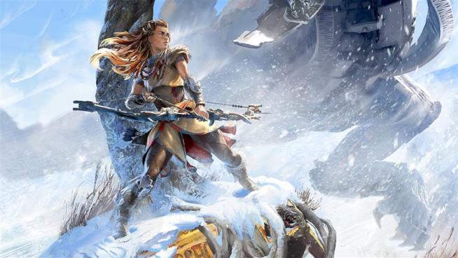 Aloy combatte tra i ghiacci nel DLC di Horizon: Zero Dawn