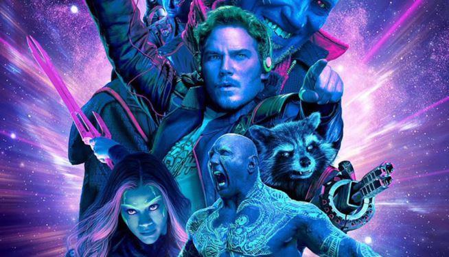 Alcuni protagonisti del film presenti nella locandina ufficiale de I Guardiani della Galassia Vol. 2
