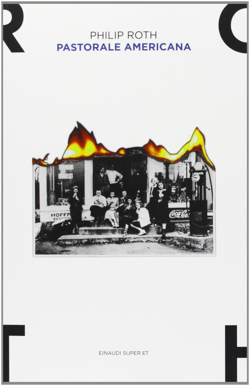 Copertina con una foto bruciata