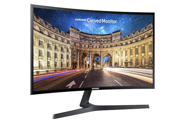 Immagine stampa del monitor curvo Samsung C24F396 da 24 pollici