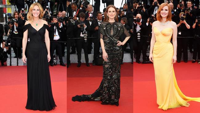 Julia Roberts, Julianne Moore e Jessica Chastain a Cannes 2016