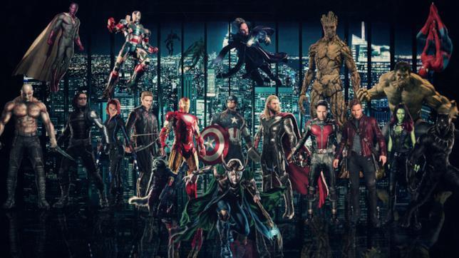 Gli eroi Marvel riuniti in una foto