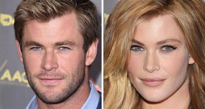 Da uomo a donna: la trasformazione di Chris Hemsworth