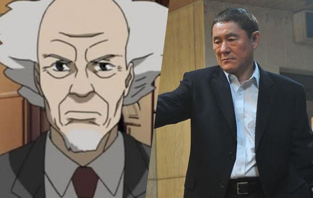 Il personaggio di Takeshi Kitano in Ghost in the Shell
