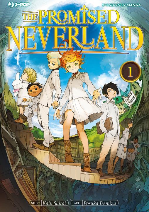 La copertina di The Promised Neverland