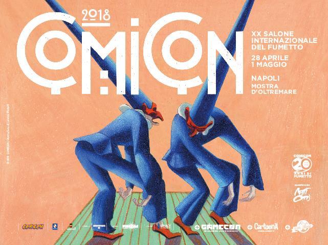 Il poster per la ventesima edizione del Comicon di Napoli