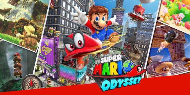 La copertina ufficiale di Super Mario Odyssey